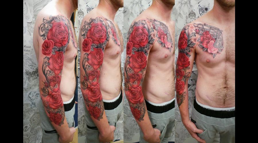 Roses  Sleeve Arm