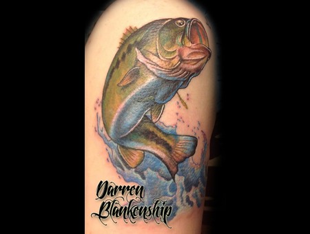 Fishing  Outdoors  Fish  Color  Realism  Bass  Tattoo Arm