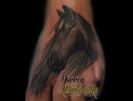 Foot  Horse  Realism  Tattoo Foot