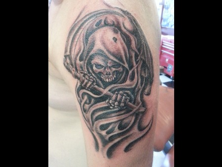 Reaper  Grim Reaper  Death   Skull Shoulder