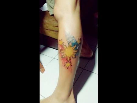 Prince Tattoo Lower Leg
