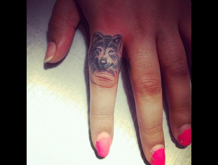 Wolf Tattoos  Finger Tattoos  Black And Grey Tattoos