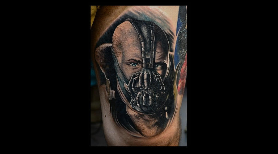 Color Portrait  Bane From Batman  Photo Realism Realism Thigh