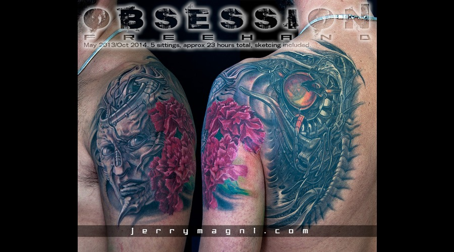 Biomech  Face  Carnation  Flower  Color Shoulder