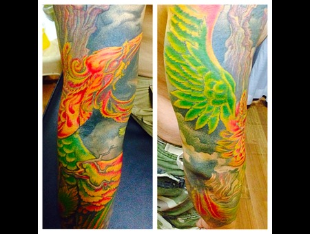 Pheonixtattoo Colortattoo Bird Arm