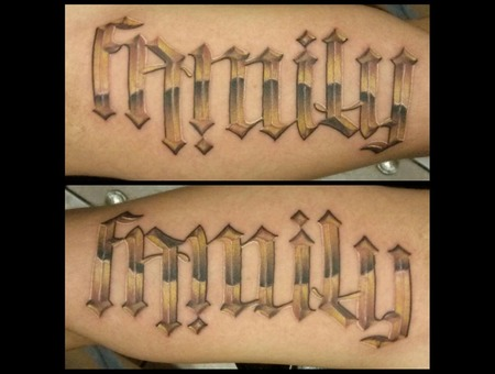 Ambigram Family Arm