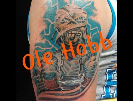 Eddie Ironmaiden Mummy Monster Arm