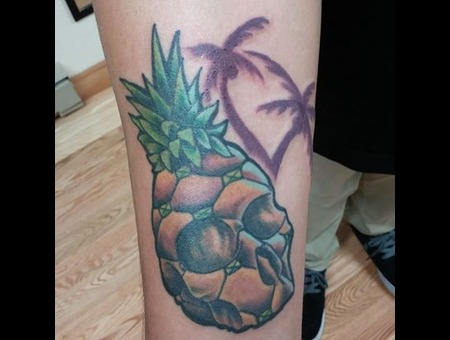Skull Pineapple Newschool Palmtrees Forearm