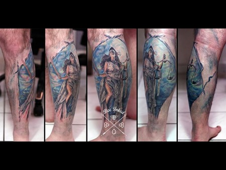 Themis  Goddess  Portrait  Justice Lower Leg