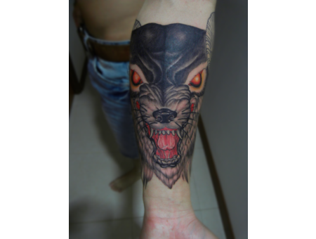 Wolf  Tattoo  Customized  Feral   Forearm
