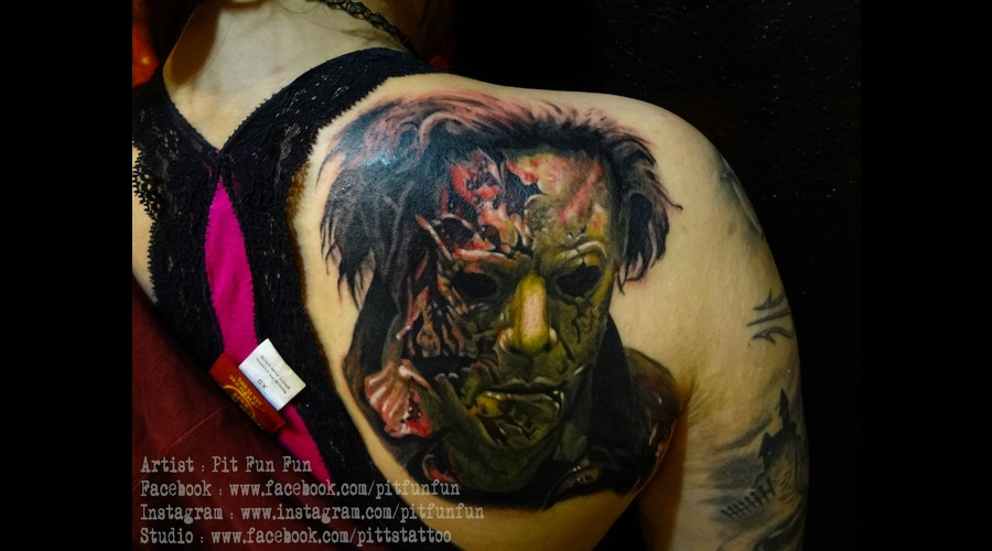 Michael Myers Color Portrait Tattoo By Pit Fun Fun