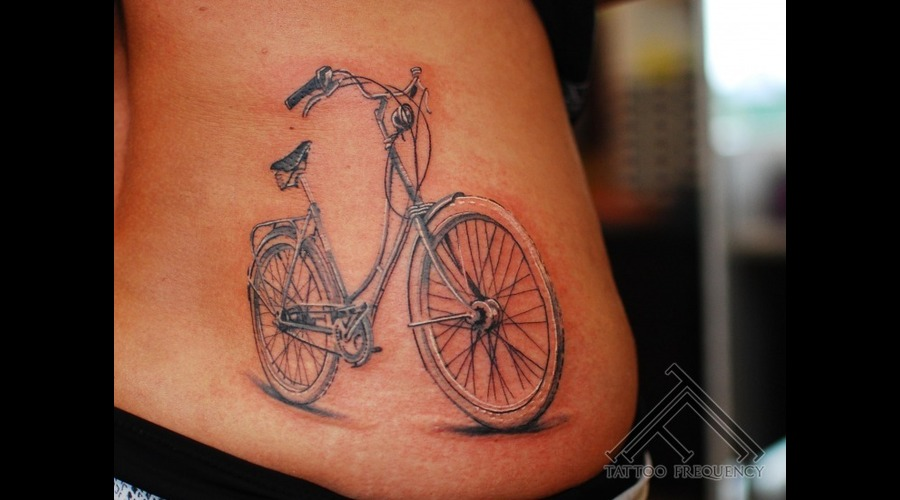 Bicycle Detail Small Tattoo Hip