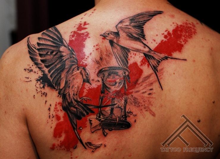 Trash Polka Tattoo Clock Clock,trash,polka,tattoo