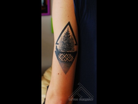 Pine Tree Forest Small Tattoo Arm