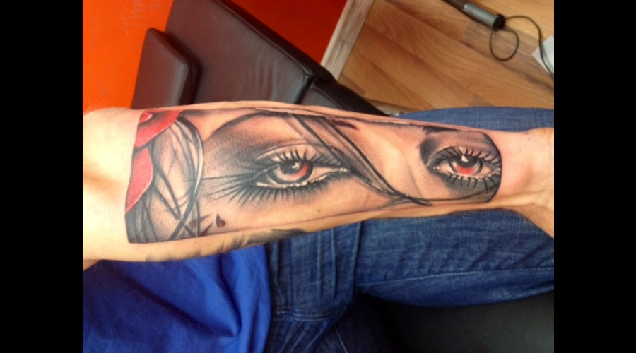 Eyes  Tattoo  Realism  Portrait Forearm