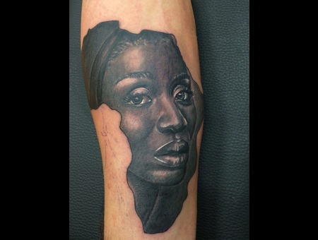 Black Woman  Africa Arm