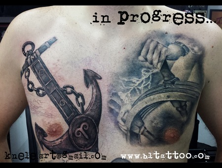 In Progress Anchor Tattoo Sea Chest