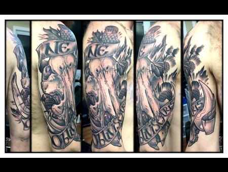 Boar  Skull  Thistle Arm