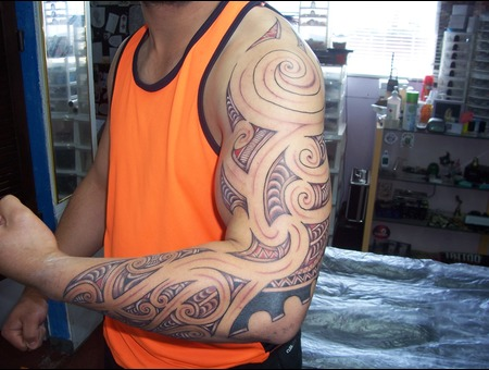 Nz Maori Full Arm Tamoko Design Arm