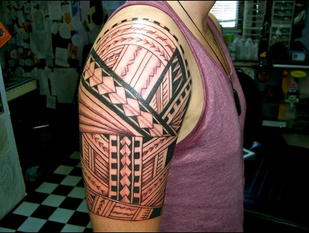 Samoan Tribal Design Arm