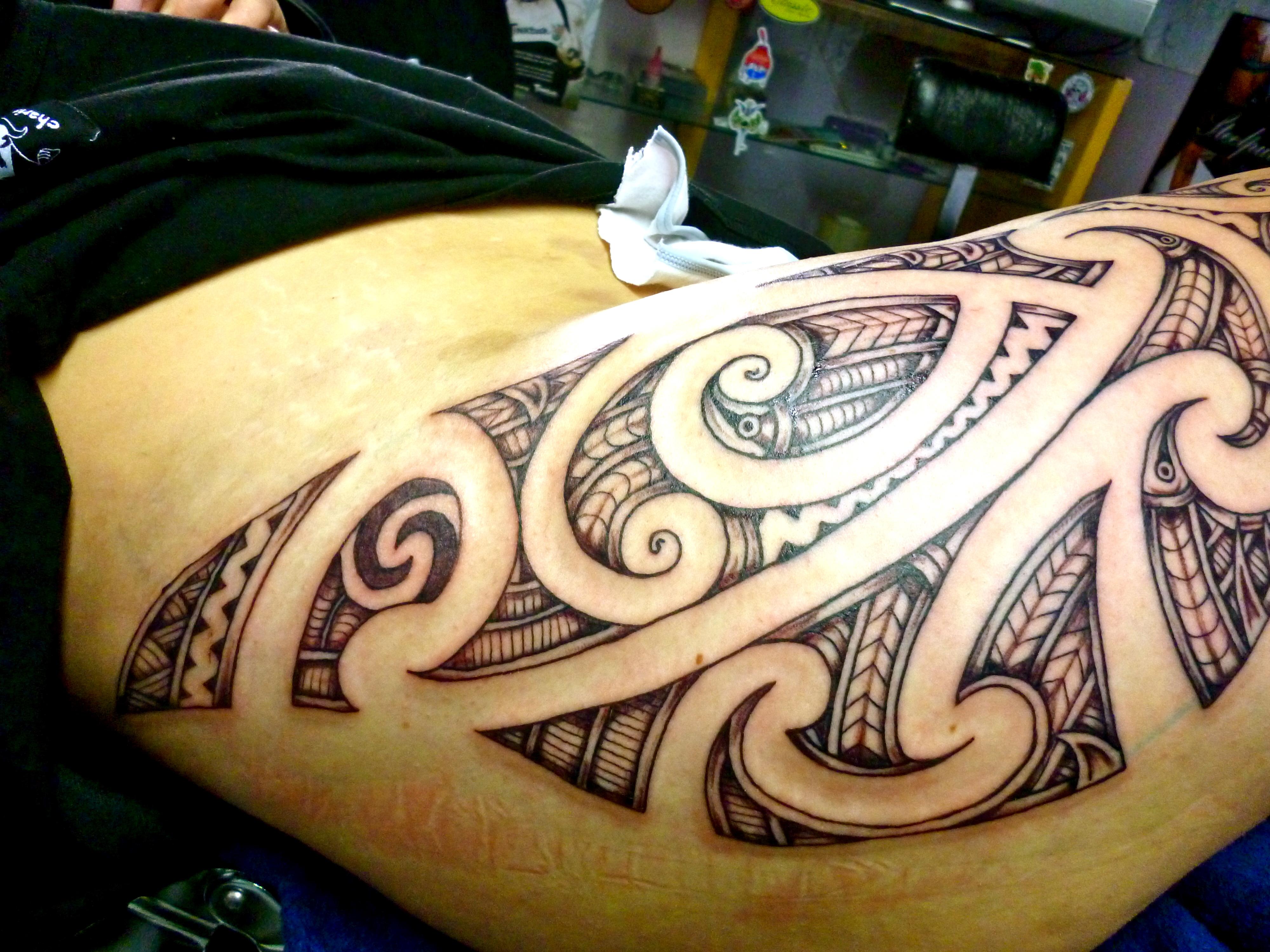 784856bce Nz Maori Styled Kirituhi Design Thigh