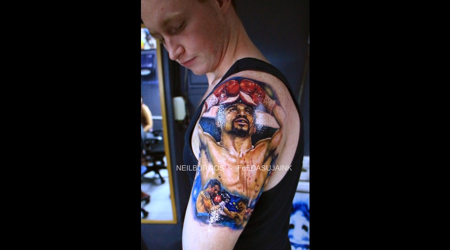 Manny Pacqiao  Tattoo Realism  Neil Burgos  Foedasuja Ink  Cebu Tattoo Arm