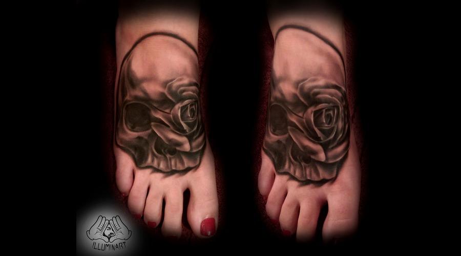 Skull Rose Foot