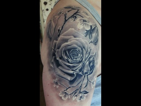 Rose  Realistic  Tattoo  Art  Realism Arm