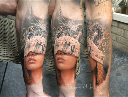 Portrait  Tattoo  Realistic  Face  Art  Realism Forearm