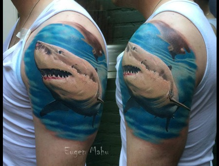 Shark  Realistic  Tattoo  Art  Realism Arm