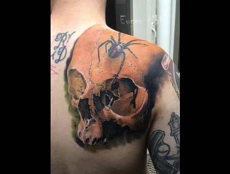 Skull  Art  Tattoo  Realistic  Realism Shoulder