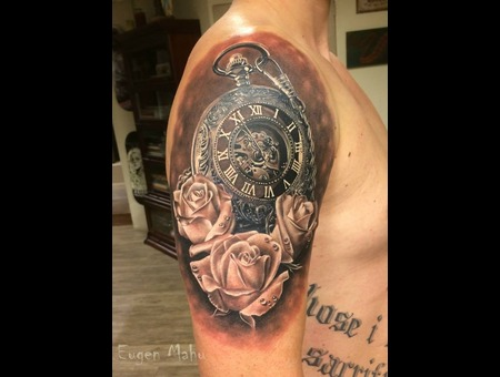 Clock  Tattoo  Realistic  Art  Realism Arm