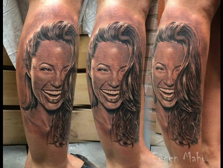 Portrait  Tattoo  Art  Realistic  Realism Lower Leg