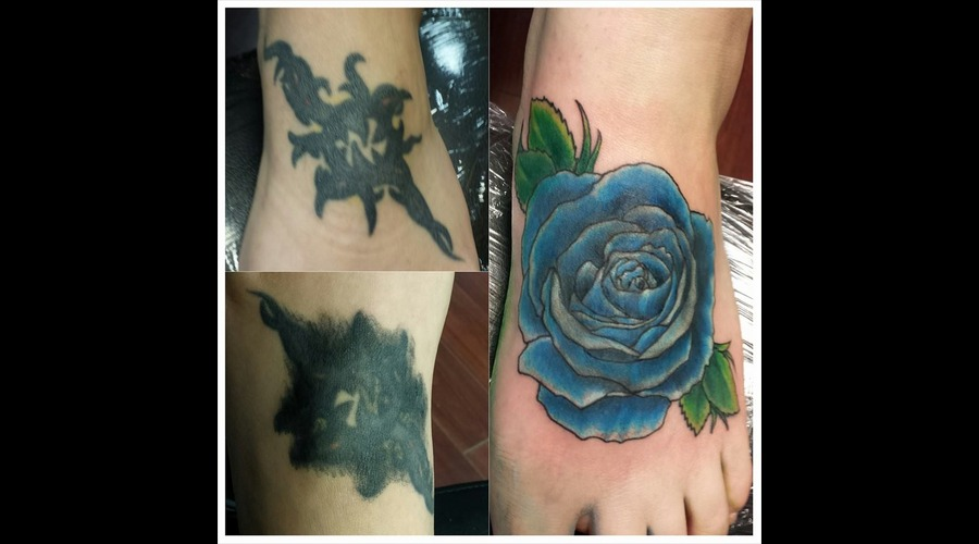 Hard Cover Up  Cover Up Tattoo  Foot Tattoo Foot
