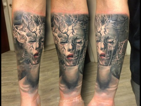 Portrait  Tattoo  Realistic  Realism Forearm