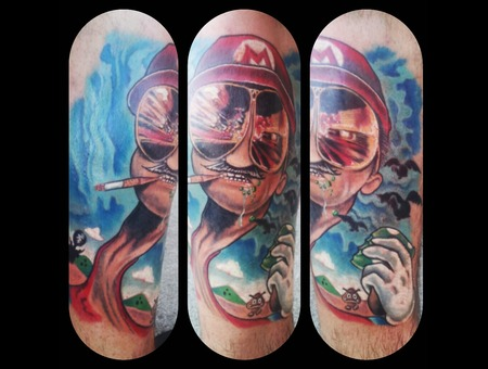 Movies  Fear And Loathing  Mario  Video Games  Color  Surreal Lower Leg