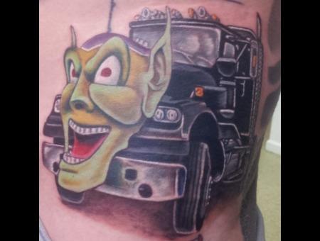 Movie  Maximum Overdrive  Trucks  Green Goblin  Color Realism Hip