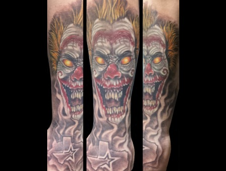Clown  Scary  Realism Forearm