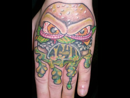 Hand  Zombie  Cheese Burger  Cartoon  New Skool Forearm