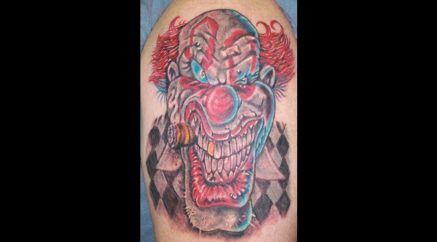 Clown  Scary  Color Realism Arm