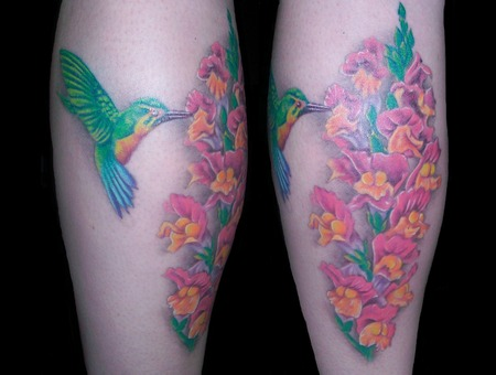 Flowers  Snap Dragon  Humming Bird  Feminine Lower Leg