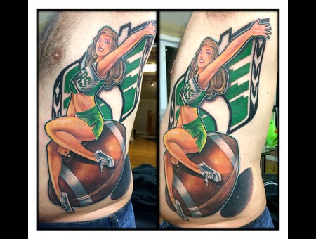 Color  Roughriders  Saskatchewan  Pinup  Pin Up  Pin Up  Football  Nfl  Cfl Ribs