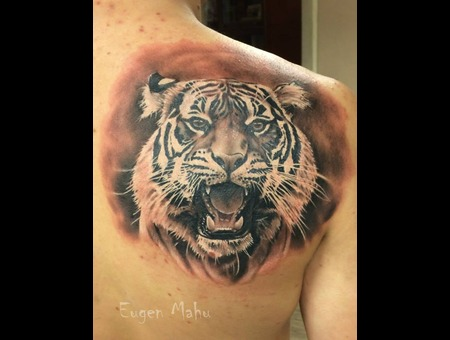 Tiger  Realistic Tattoo  Realism Back