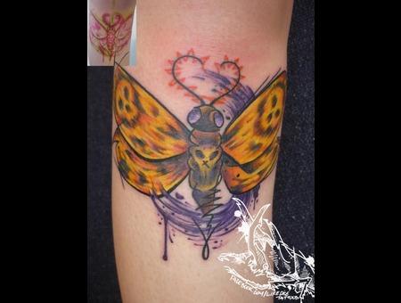 Tattoo  Trash  Butterfly  Art  Watercolor Lower Leg