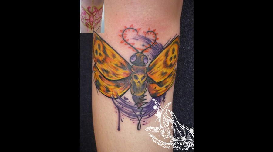 Tattoo  Trash  Butterfly  Art  Watercolor Lower Leg