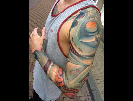 Tattoo  Trash  Bio  Art  Watercolor Arm