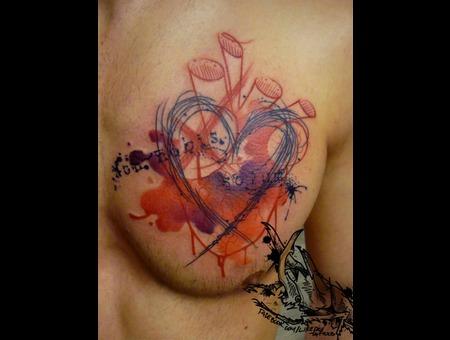Tattoo  Trash  Heart  Art  Watercolor Chest