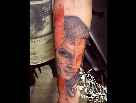 Tattoo  Trash  Portrait  Art  Watercolor Forearm