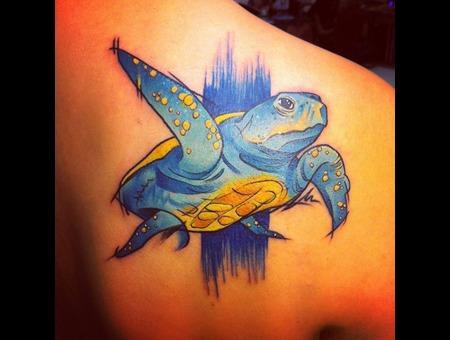 Tattoo  Trash  Turtle  Art  Watercolor Back