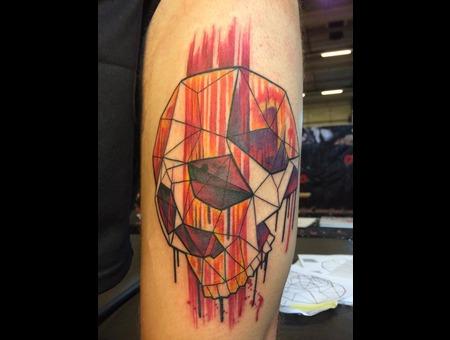 Tattoo  Trash  Skull  Art  Watercolor Arm